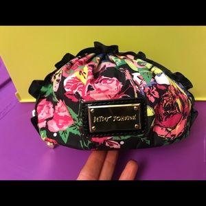 Betsey Johnson Ruffle Makeup Pouch Bag